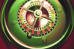 Roulette Wheel. Close Up of Roulette Wheel stock photos