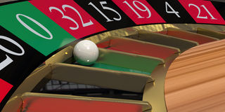 Roulette wheel close-up royalty free stock images