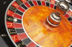 Roulette Wheel close up Royalty Free Stock Photos