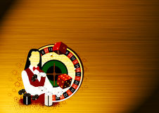 Roulette wheel an dealer girl Stock Image