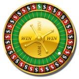 Roulette Wheel Dollars Symbol Win Stock Images