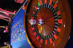 Roulette wheel gambling Stock Photos