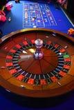 Roulette wheel gambling. Gambling at the roulette wheel stock photo
