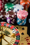 Roulette wheel gambling in a casino. stock photos