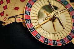 Roulette wheel gambling in a casino. stock image