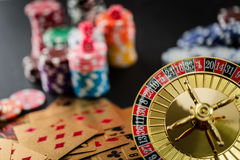 Roulette wheel gambling in a casino. royalty free stock photos