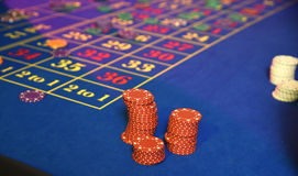 Roulette wheel gambling Stock Images