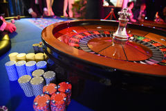 Roulette wheel gambling Royalty Free Stock Images