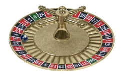 Roulette Wheel and Globe Stock Images
