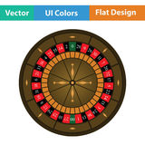 Roulette wheel icon Royalty Free Stock Image