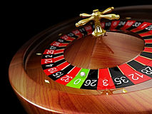 Roulette. Wheel isolated on white background Stock Photo
