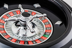 Roulette wheel. Macro shot of a casino roulette wheel Stock Photography