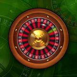 Roulette Wheel Spinning in Casino Royalty Free Stock Photography