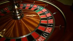 Roulette wheel. Spinning in casino with no ball stock video footage