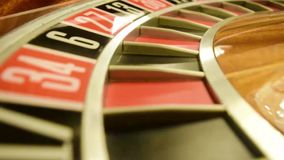 Roulette wheel spinning stock footage