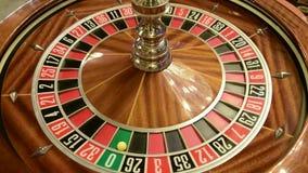 Roulette wheel spinning stock video