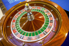 Roulette wheel and table detail. Gambling Royalty Free Stock Photos
