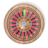Roulette wheel. Top view. 3D Royalty Free Stock Photos