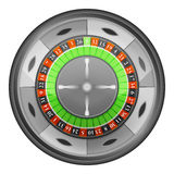Roulette wheel in top view vector isolated Royalty Free Stock Photography