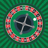 Roulette Wheel. Vector illustration of a roulette wheel Royalty Free Stock Image