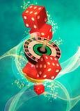 Rouletteachtergrond Stock Afbeeldingen