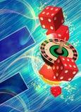 Roulettehintergrund Stockbilder