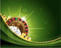 Roulettehintergrund des spielenden Kasinos Stockfotos
