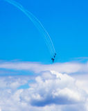 The Roulettes in Blue Sky. The Roulettes plane formation aerobatic display Royalty Free Stock Photo