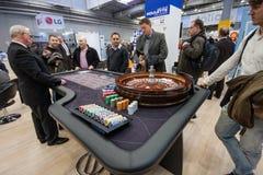 Roulettetisch installiert in Ausstellungshalle bei CeBIT Lizenzfreies Stockfoto