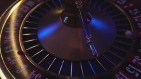 Roulettewiel - sluit omhoog mening stock footage