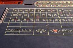 Roulettlek i kasino arkivbild