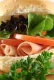 Roulis 7 de jambon et de salade image stock
