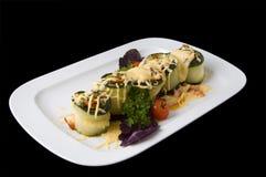 Roulis cuits de moelle /courgette Photo stock