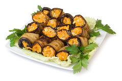 Roulis d'aubergine Image libre de droits