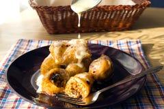 Roulis de chou bourré Image stock
