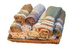 Roulis de coton dans le panier Images libres de droits