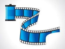 Roulis de film bleu brillant abstrait Photographie stock libre de droits