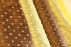 Roulis de luxe de soie Photos libres de droits