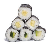 Roulis de maki de concombre Photographie stock