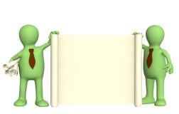 roulis de marionnettes du document 3d Images libres de droits