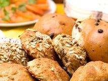 Roulis de pain effectués à la maison délicieux Image libre de droits