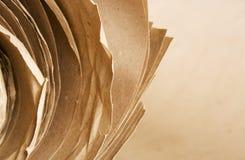 Roulis de papier d'emballage de papier de Brown Photographie stock