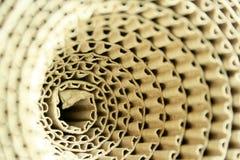 Roulis de papier ondulé. Photo libre de droits