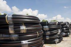 Roulis de pipe de HDPE photo stock