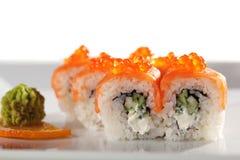 Roulis de saumons photos stock