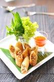Roulis de source traditionnels chinois frits photo libre de droits