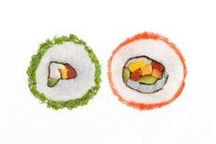 Roulis de sushi de maki de la Californie. Images libres de droits