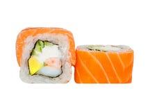 Roulis de sushi frais Image libre de droits