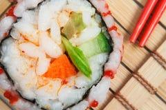 Roulis de sushi frais Photos stock