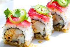 Roulis de thon de sushi Photographie stock